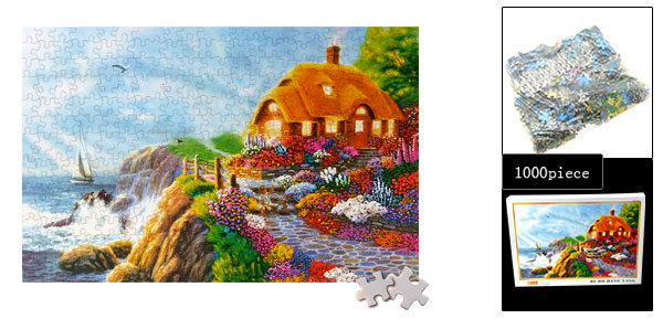 Educational Toy 1000 Pieces Sailboat Flower Jigsaw Puzzles