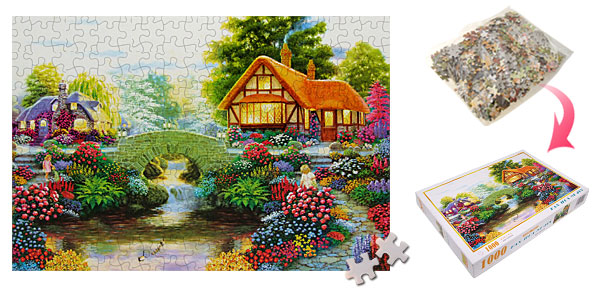 Educational Jigsaw Puzzles Toy Flower Girl 1000 Pieces