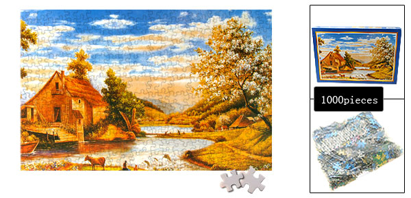Golden Autumn Jigsaw Puzzles DIY Toy for Children