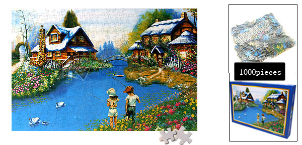 Children's DIY Educational Toy Fishing Kids Jigsaw Puzzles