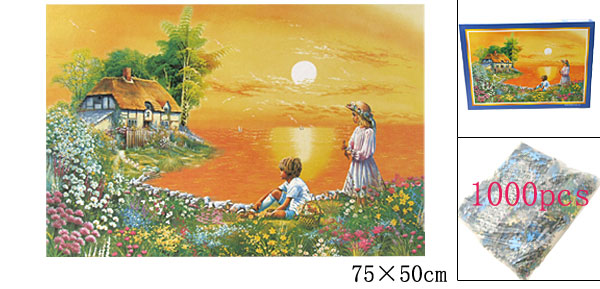 DIY Toys Educational 1000 Piece Sunset Scenery Jigsaw Puzzles