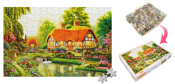 Kids' DIY Educational Toy Summer Scenery Jigsaw Puzzles