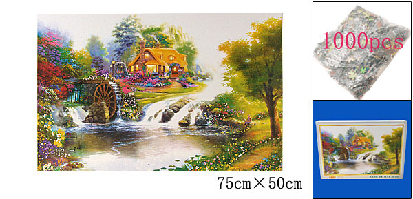 Educational Toy 1000 Pieces Windmill River Jigsaw Puzzles