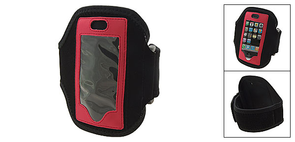 Neoprene Sports Armband Case Holder for Apple iPhone 3G Black Red