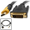 1.8M Golden Plated HDMI Male to DVI-D Male Connective Cable