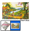 Educational Toy 1000 Pieces Rainbow Flower Jigsaw Puzzles