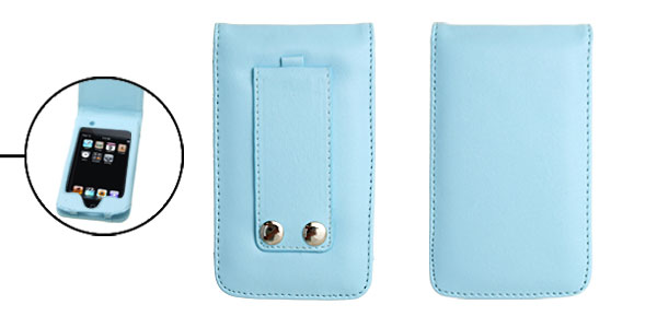 Blue Flip Leather Case Pouch for iPod Touch II 2nd Generation