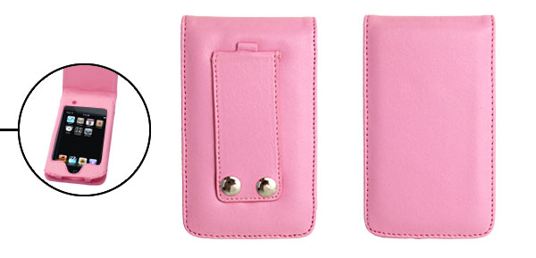 Pink Flip Leather Case Pouch for iPod Touch II 2nd Generation