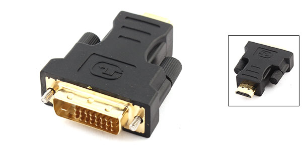 Male to Male DVI-I Dual Link HDMI Video Adapter Black Replacement