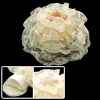 Romantic Lace Overlay Round Fabric Tissue Box Holder Cover