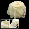 Luxury Lace Overlay Round Fabric Tissue Box Case Cover