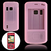 Pink Silicone Skin Case Cover for Nokia 6210 Navigator