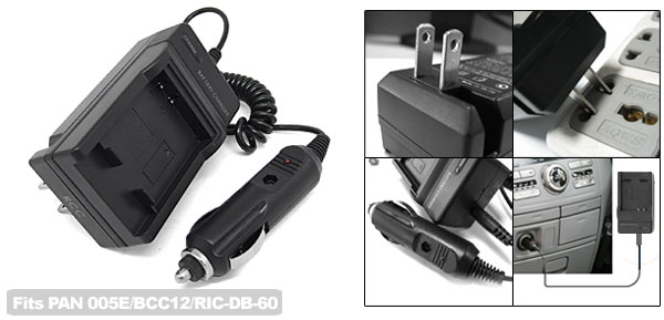 US Plug AC100-240V Battery Charger for Panasonic 005E/BCC12/RICOH-DB-60