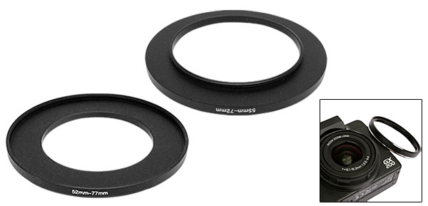 Camera 52mm-77mm Aluminum Step Up Filter Ring Adapter