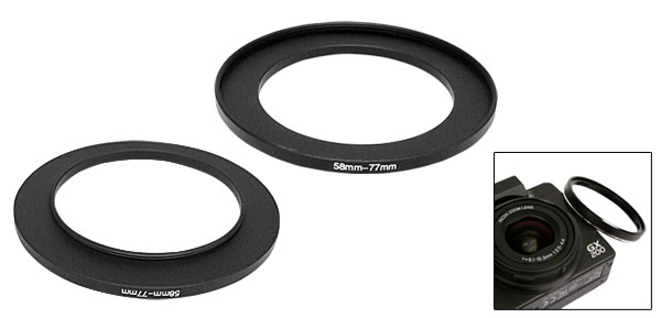 Step Up Ring 58-77mm Camera Filter Stepping Adapter 58-77 Metal