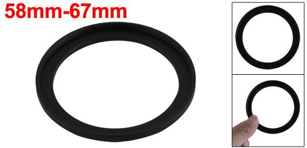 Camera Black Aluminum Step Up Ring 58mm-67mm Adapter Xxvoq