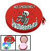 No Smoking CD DVD Portable Metal Storage Carry Case Holder