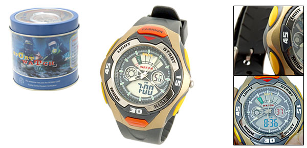 Water Resistant Men's Sports Digital Alarm Wrist Watch