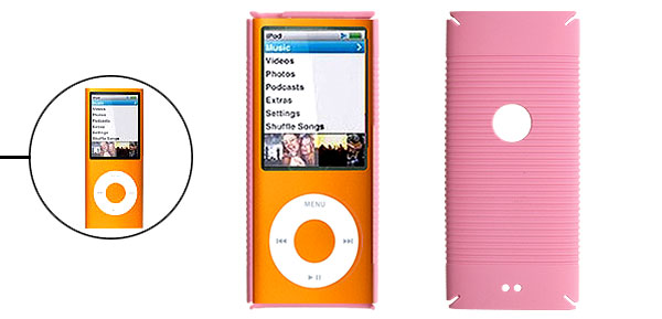 Pink Hard Plastic Case Protector for iPod Nano Chromatic 4th Gen 4G