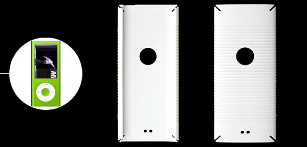 White Plastic Back Cover Protector for iPod Nano 4th Generation