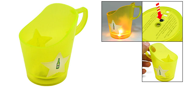 Plastic Cup Glass Mug Holder with LED Flash Light Bar Supply