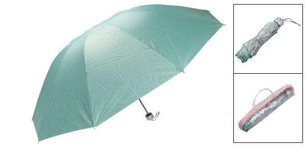 Foldable Canopy Metal Shaft Sunny Raining Umbrella