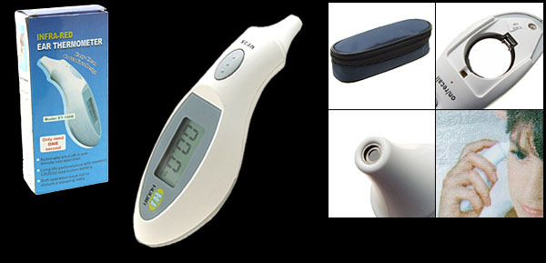 Digital LCD Display IR Infrared Adult Babies' Ear Thermometer