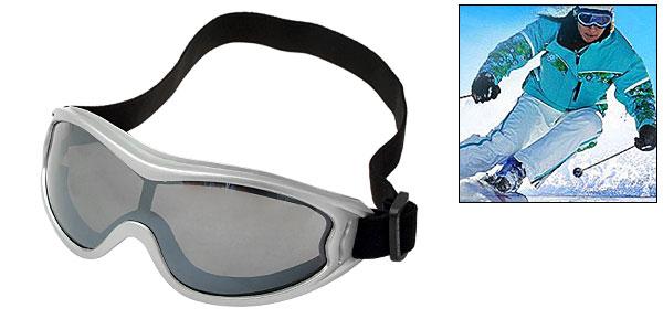 Ski Snowboard Skate Sports Goggles Glasses Silvery Frame