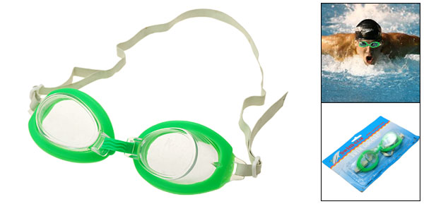 Teenage Swim Swimming Pool Green Frame Goggles