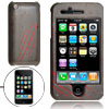 Hard Plastic Case with Red Strip Pattern for Apple iPhone 3G