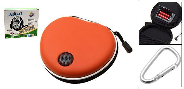 Orange Portable 3.5mm Speaker Airform Bag for MP3 MP4 iPod