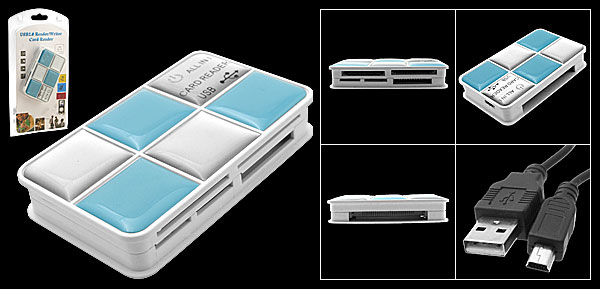 All-in-1 High Speed USB 2.0 Memory Card Reader Writer SD/XD/TF/M2/MS/CF