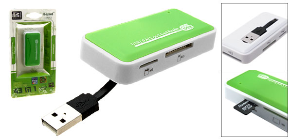 All in 1 SD/XD/MS USB Memory Card Reader Writer