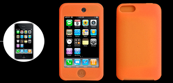 Orange Silicone Skin Case Protector for iPod Touch 2nd Generation 2G