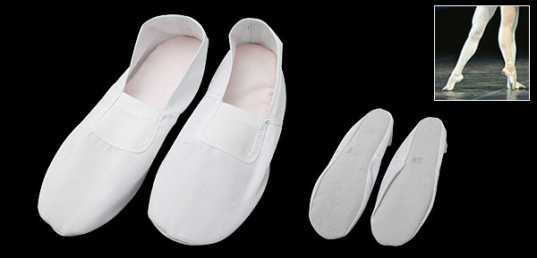 Dance Dancing Shoes White Girls Ballet Slippers Size 6