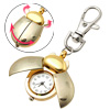White Dial Ladybird Pendant Key Ring Chain Quartz Travel Pocket Watch