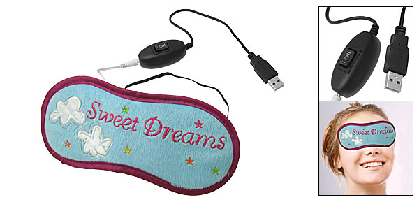 Xmas PC/Laptop Computer USB Powered Heated Eye Health Cover Warmer Heater