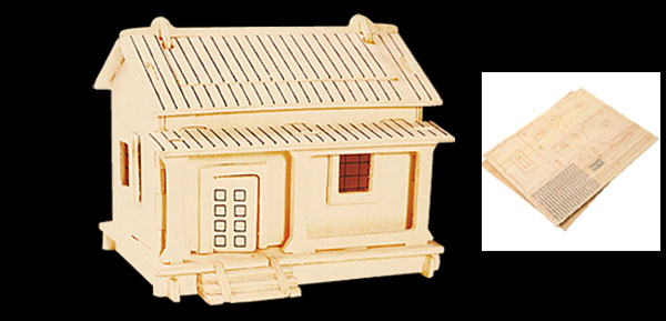 Sunshine House Woodcraft Construction Kit 3D Model Puzzle Toy