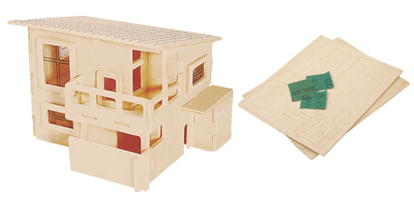 Breezy House 3D Model Puzzle Toy Woodcraft Construction Kit