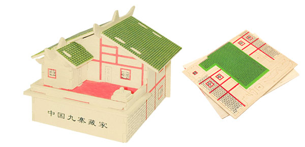Tibet House Model Woodcraft Construction Kit 3D Puzzle Toy
