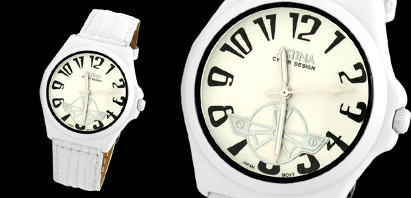 Decent White Dial Leather Adjustable Band Girls Lady Women Wrist Watch
