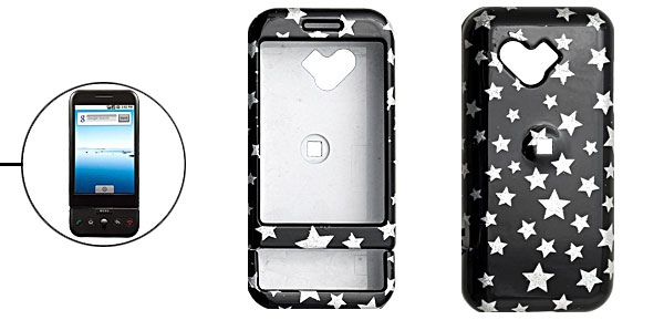 Black Plastic Hard Case with Stars Cover for Google G1