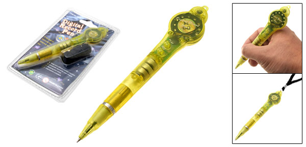 Toy Fun Digital Voice Record Pen w/ Neck Strap Yellow