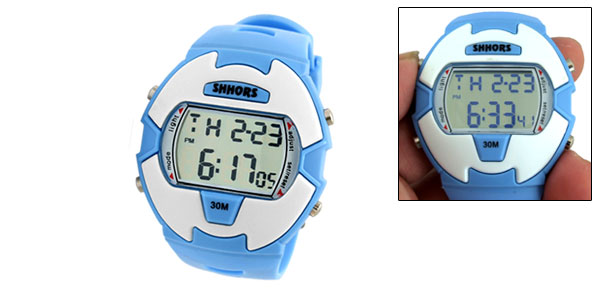 EL Light Women's Multifunction Sports Digital Alarm Watch