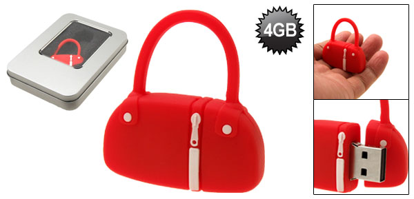 Red Hand Bag Shaped 4GB USB Memory Stick