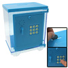 Blue ABS Miniature Combination Electronic Secret Musical and Code Money Box Safe
