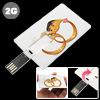 Happy Couple 2GB Mini Name/Credit/Business Card Size Style USB Fl...