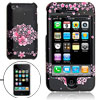 Black Plastic Case with Pink Flower Pattern for Apple iPhone 3G