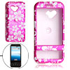 Flower Pattern Plastic Case for Google G1 Amaranth Pink