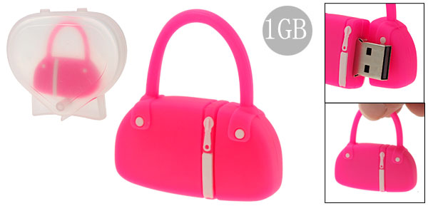 Pink Hand Bag Shaped 1GB USB Memory Stick